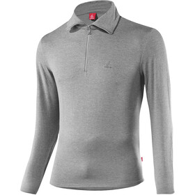 Löffler Basic CF Transtex Sweat-shirt Zip Homme, grey melange